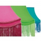 Fluoro Fringe Shocking Pink Table Lamp (Image 5) by The French Bedroom Company