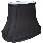 12 Inch Black Silk Lamp Shade
