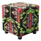 Aztec Stool in Black