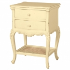 Parisian 2-Drawer Cream Bedside Table