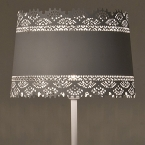 Large Lacey White Floor Lamp (Image 3)