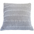 Ruffle Ruched Grey Cushion