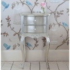 Sylvia Silver Bedside Table