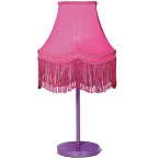 Fluoro Fringe Shocking Pink Table Lamp