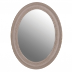 Ash Grey Oval Mirror