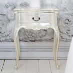 Sylvia Silver Single Drawer Bedside Table
