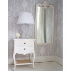 Provencal 2-Drawer White Bedside Table (Image 3)