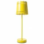 Little Lacey Yellow Lamp