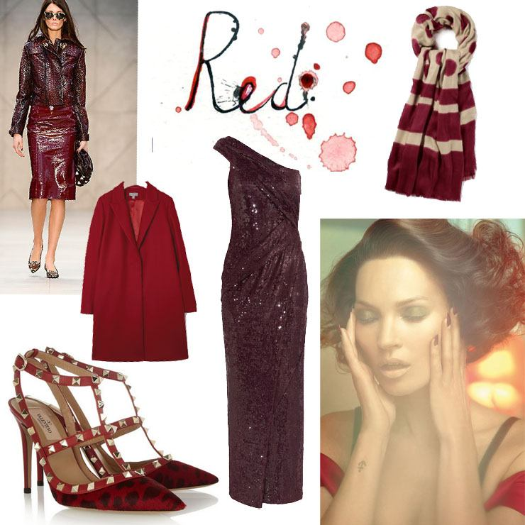 Fashion collage reds