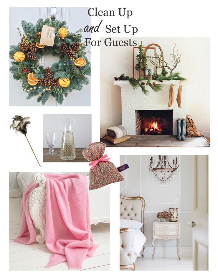 The French Bedroom Company Blog, Preparing for Guests this christmas, wreath, bedside table, bedroom french bed