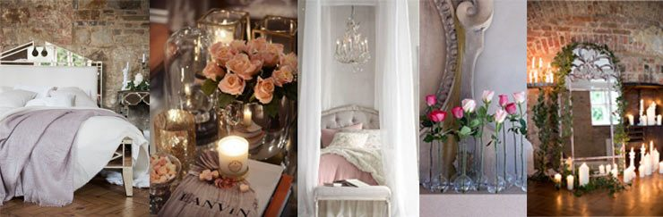 the French Bedroom Company Blog, How to Create a Romantic Boudoir for Valentines day. Interior design tips on fairylights, layers and flowers in the bedroom. French Romance