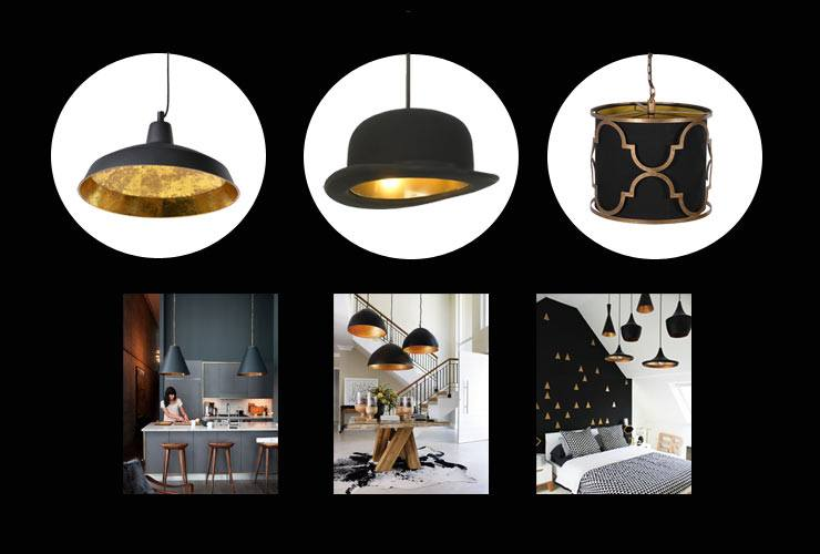 Enlightening Lighting Blog featuring Jeeves & Wooster Lights by Jake Phipps black and gold