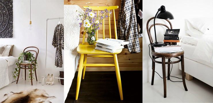 Bedside Story - Inventive Ways with bedside tables - chairs