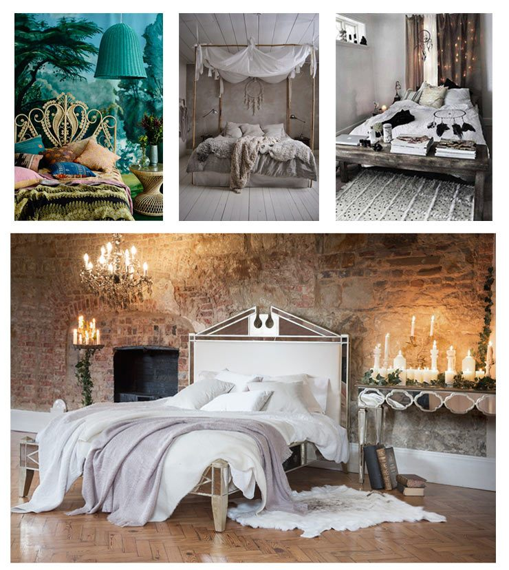 How to: Create a beautiful boho bedroom bed collage