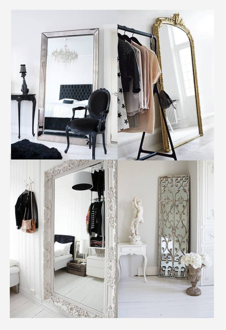 Large full length mirrors in the bedroom