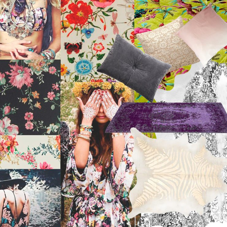 How to: Create a beautiful boho pattern, rugs, floral