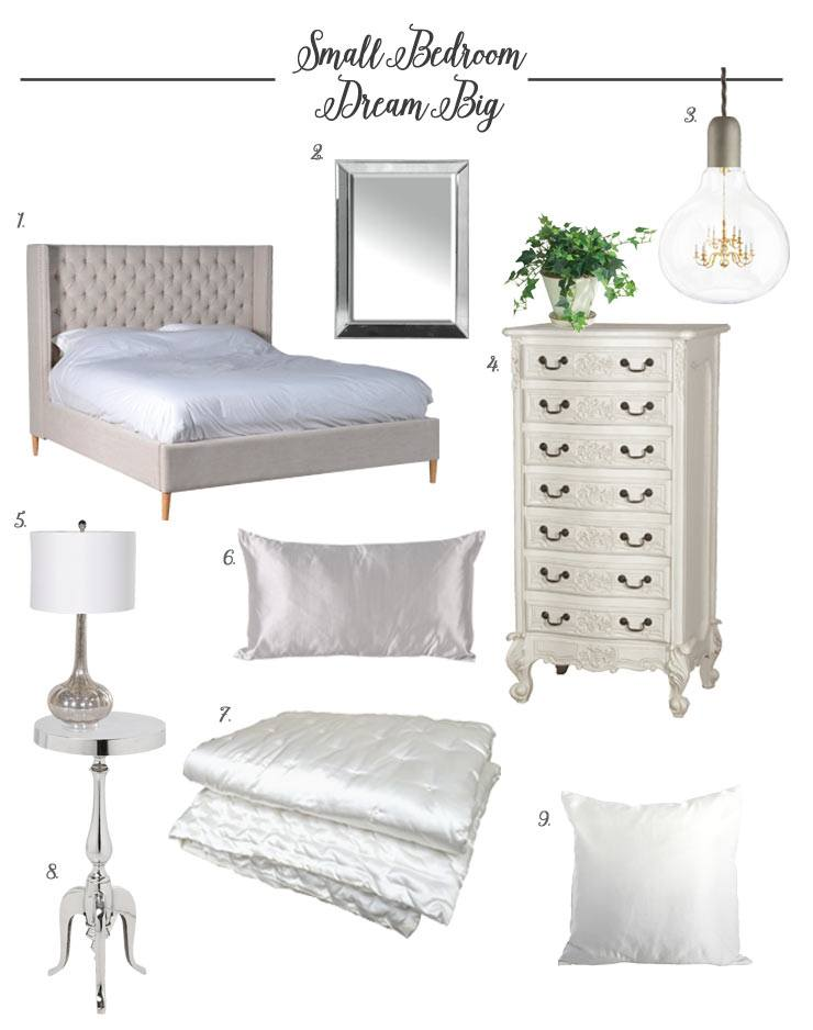 Design Tips for a small bedroom blog, french bedroom company products white painted items