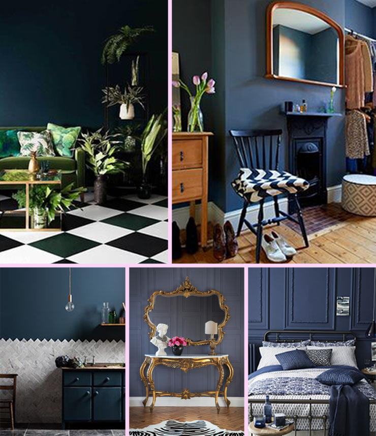 The French Bedroom Company Blog, Trend Report: Iky Blues inspiration board