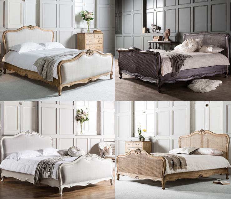 The French Bedroom Company Blog, New bed collection Frank Hudson French bed collection mahogany, distressed, rattan, white painted linen