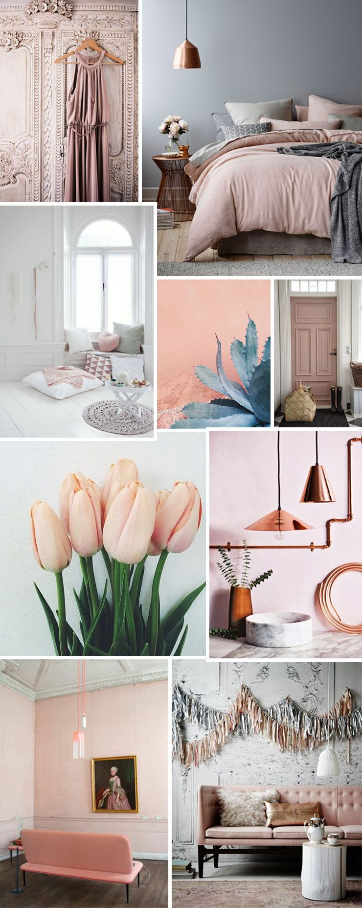 Coming up roses blush pink for your home french for Living room ideas rose gold