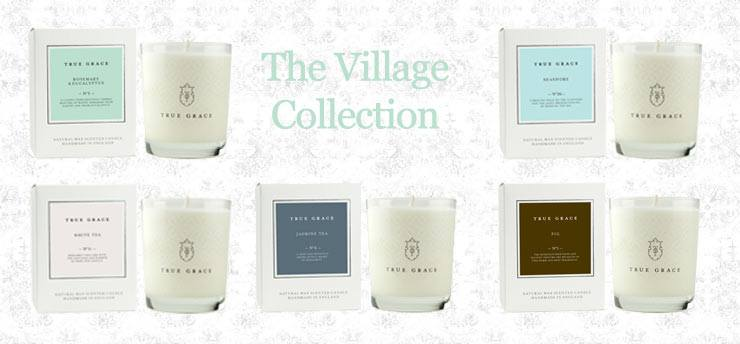 The French Bedroom Company Blog, truly Graceful, True Grace Scented Candle Collection Village range