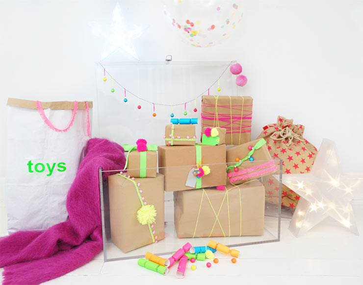 The French Bedroom Company Blog Neon Christmas Trunk styled by Stella & The Stars