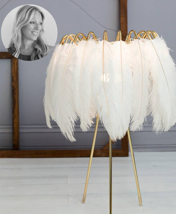 The French Bedroom Company Blog, Valentines Day gift list - things we're loving for inspirational valentines presents. Plummage Lamp in white - feather lamp chosen by our founder Georgia Metcalfe