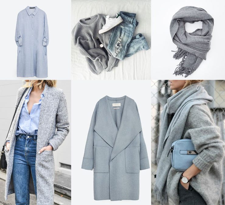 The French Bedroom Company Blog, Get The Look: Blue & Grey in your home and spring fashion for 2016. Think chunky knits, cashmere acne scarves and luxury materials - wool, silk