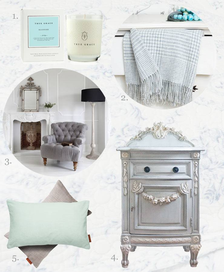 The French Bedroom Company Blog, Get The Look: Pale Blue And Grey. Pastel