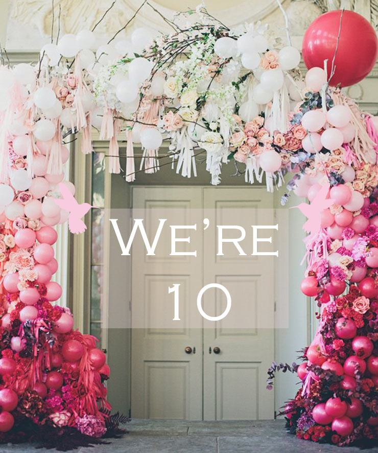 The French Bedroom Company Blog - Ten Years of Love with our founder Georgia Metcalfe. Celebrating our tenth anniversary. Pink balloons in a French style home