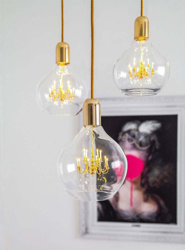 The French Bedroom Company Blog, Meet The Makers: Mineheart interview with Vanessa Batagglia and Brendan Young. The King Edison Mini Chandelier Light in gold miniature lamp