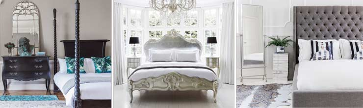 The French Bedroom Company Blog, Get the French Bedroom Company look in your own home. Silver beds, upholstered bed, linen bed, king size bed, black bed, four poster and buttoned bed