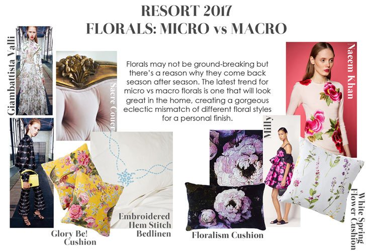 The French Bedroom Company Blog Resort Fashion in your home. Florals - macro v micro