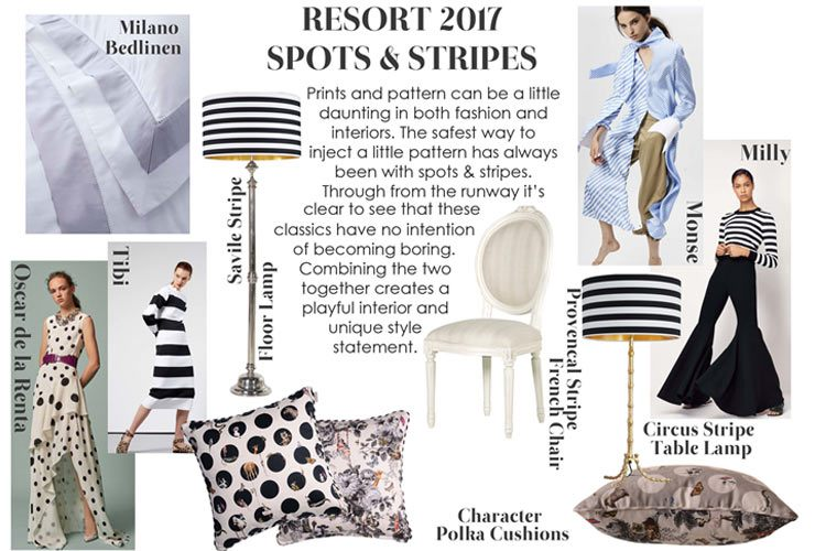 The French Bedroom Company Blog Resort Fashion in your home. Spots and Stripes