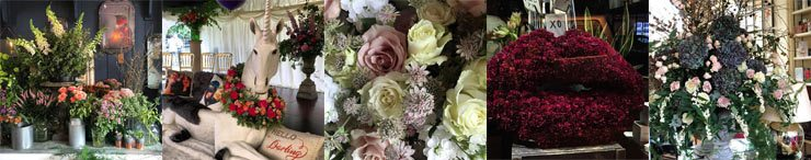 Dramatic wedding flowers