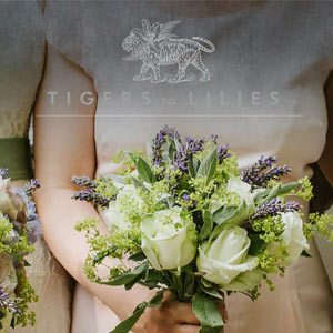 Wedding flowers with white roses
