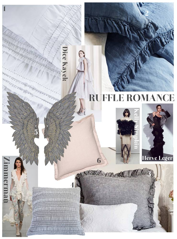 Ruffled cushions