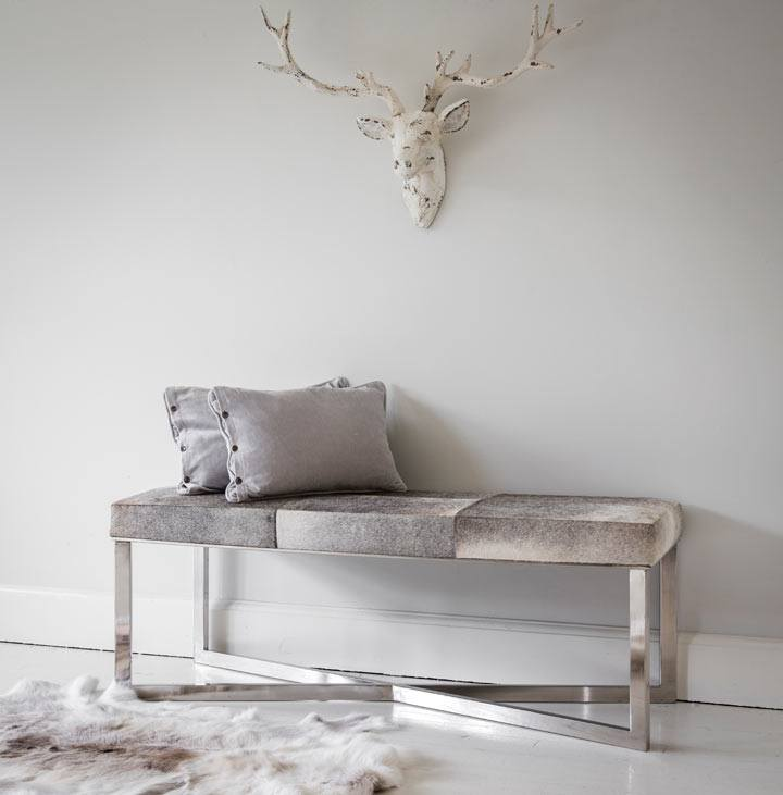 grey bedroom bench