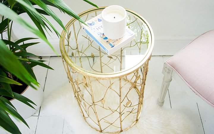 Leaf Motif Side Table