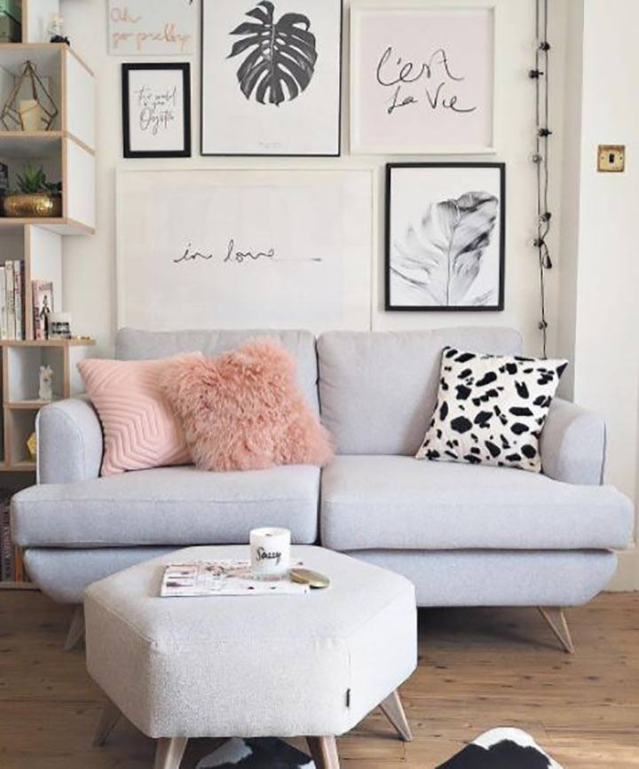 Pink and Grey lounge
