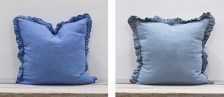 Blue Linen Cushions