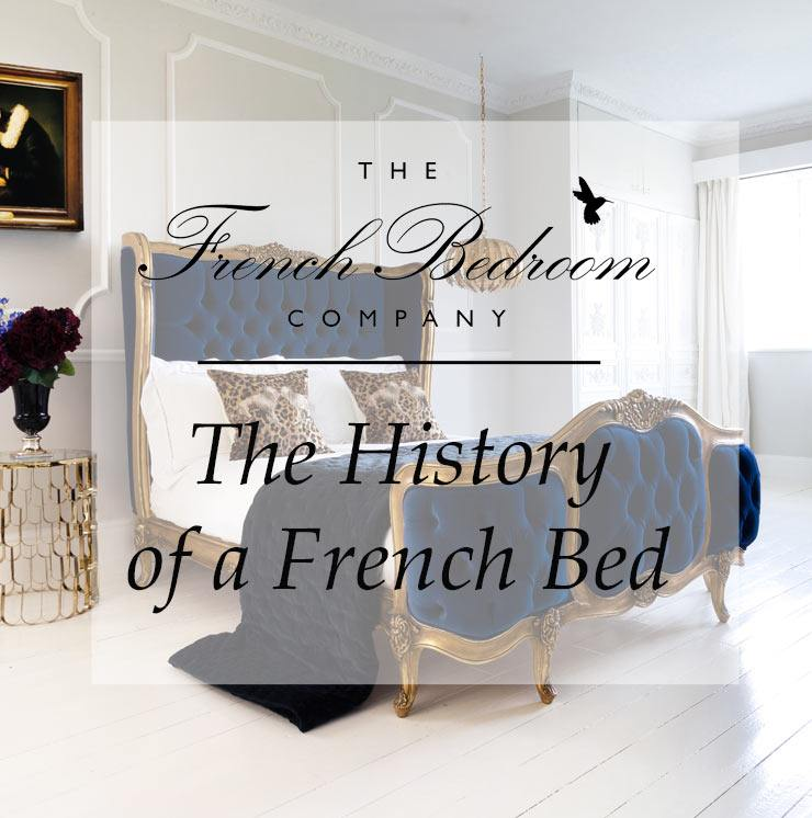 Blue and Gold French Bed