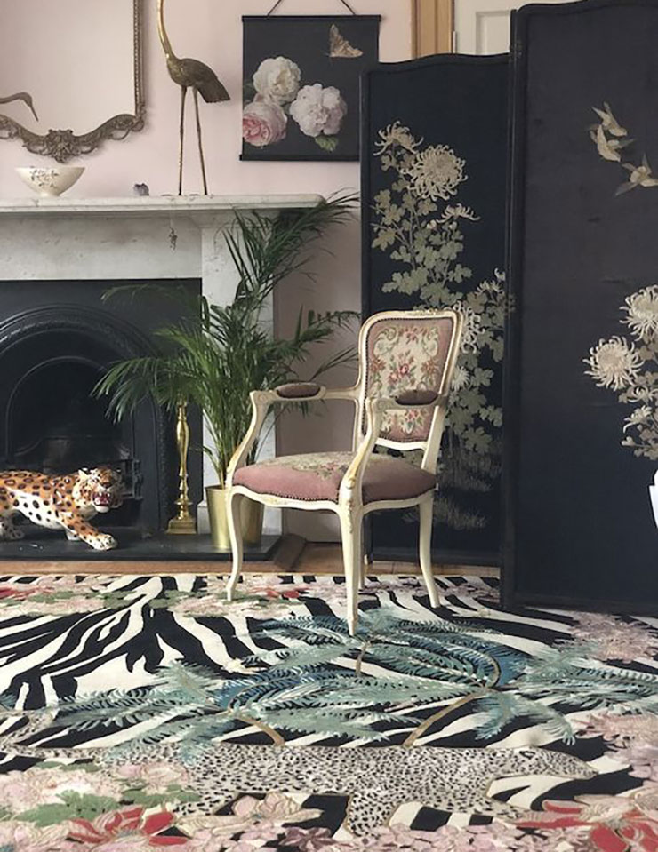 Luxury french interior with leopard print