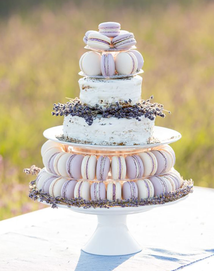 macaron cake tower for french wedding