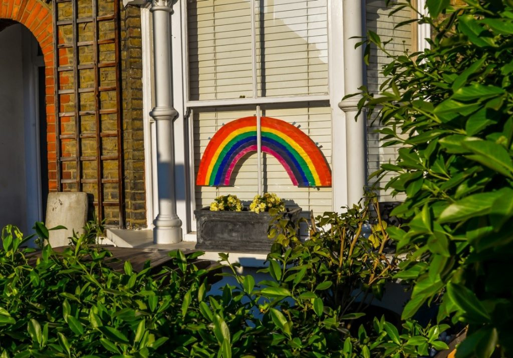 NHS rainbow for Help for Heroes